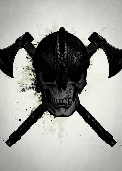 Axe Wall Art - Digital Art - Viking Skull by Nicklas Gustafsson