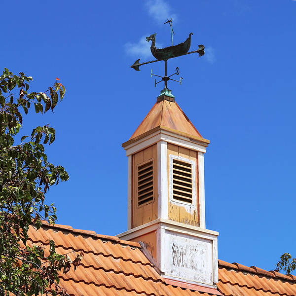 Solvang Photograph - Viking Wind Vane by Art Block Collections