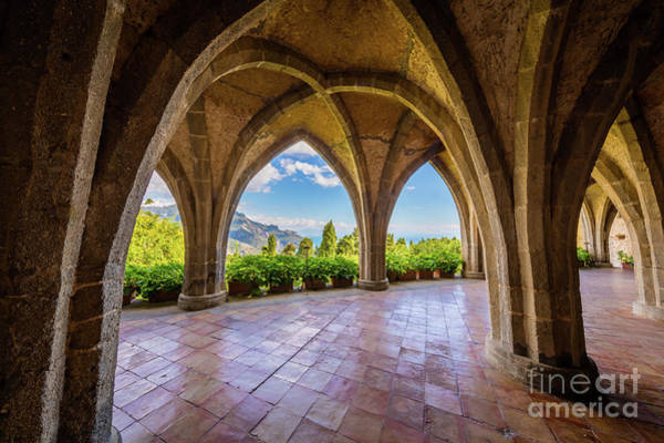 Photograph - Villa Cimbrone Arches by Inge Johnsson