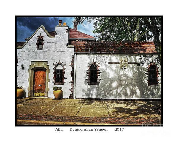 Mount Clemens Photograph - Villa by Donald Yenson