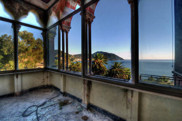 Photograph - Villa Of Windows On The Sea - Villa Delle Finestre Sul Mare II by Enrico Pelos