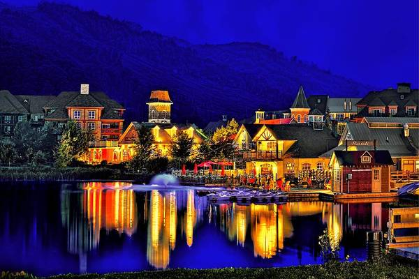 Wall Art - Photograph - Village At Blue Hour by Jeff S PhotoArt