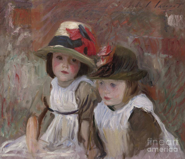 John Singer Painting - Village Children, 1890 by John Singer Sargent