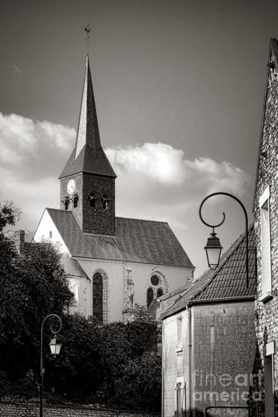 Photograph - Village Church In France by Olivier Le Queinec