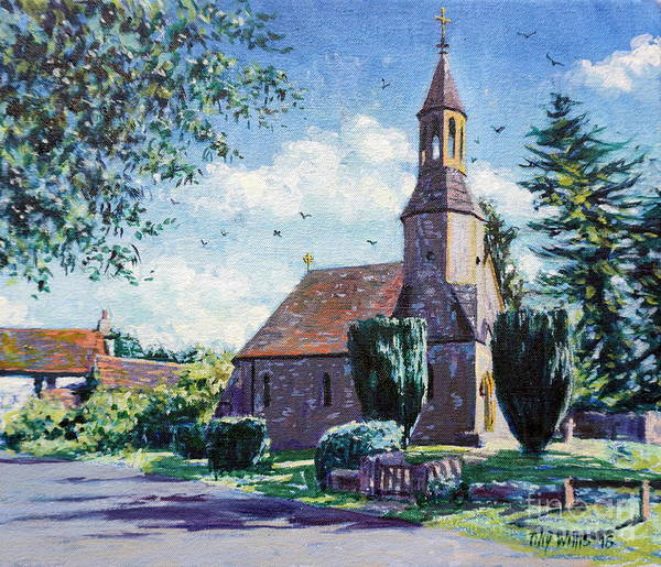 Wall Art - Painting - Village Church  by Tilly Willis