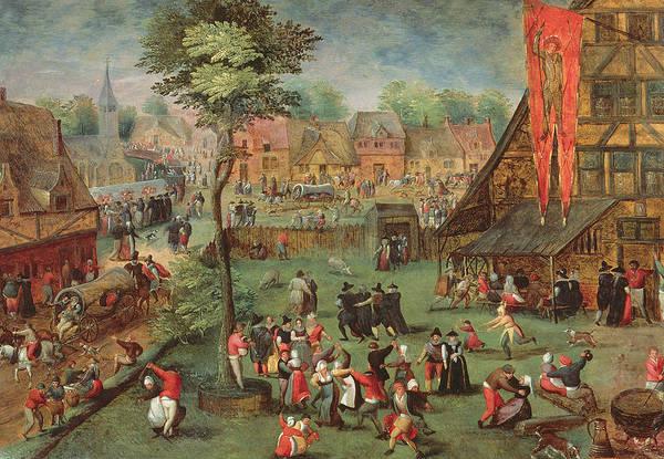 Traffic Painting - Village Kermesse by Hans Bols