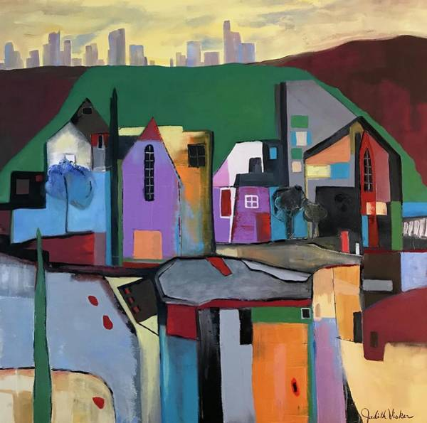 Painting - Village Near The City by Judith Visker