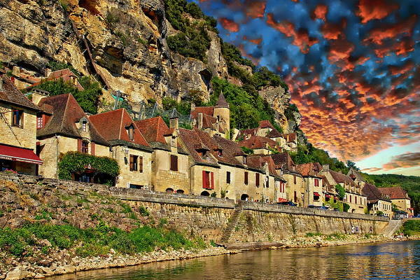 Photograph - Village Of La Roque-gageac by Anthony Dezenzio