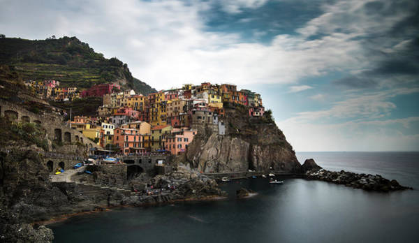 Outdoor Wall Art - Photograph - Village Of Manarola Cinqueterre, Liguria, Italy by Michalakis Ppalis