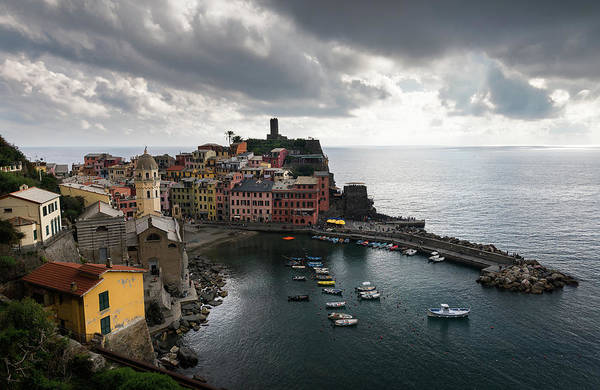 Outdoor Wall Art - Photograph - Vernazza Village, Italy  by Michalakis Ppalis