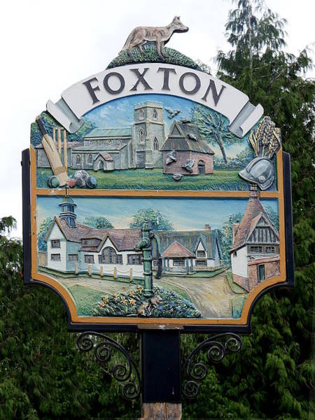 Photograph - Village Sign - Foxton by Richard Reeve
