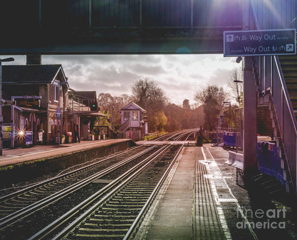 Art Print featuring the photograph The Village Train Station by Perry Rodriguez