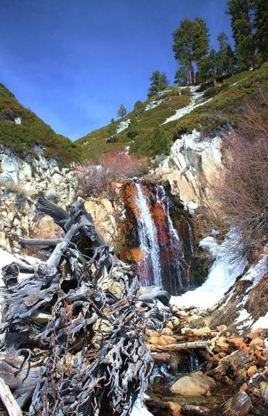 Photograph - Incline Village Waterfall Portrait by Sean Sarsfield