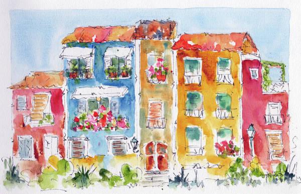 Painting - Villajoyosa Spain by Pat Katz