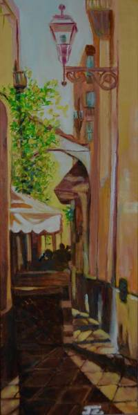 Dining Al Fresco Painting - Ville Franche 11 by Julie Todd-Cundiff
