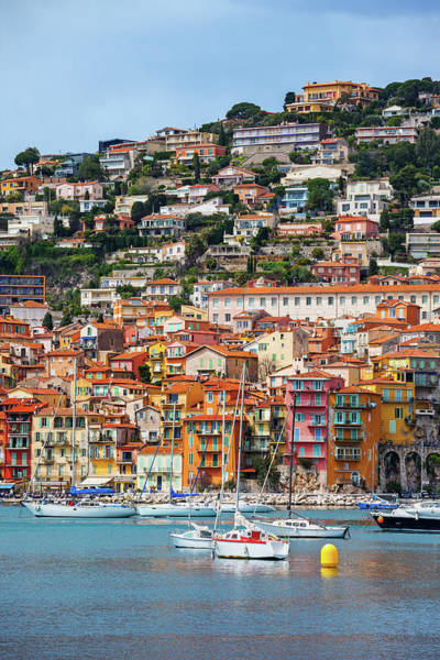 Wall Art - Photograph - Villefranche Sur Mer Town On French Riviera by Artur Bogacki