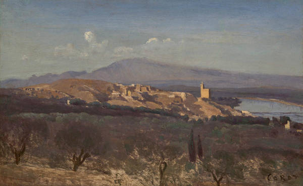 Painting - Villeneuve-les-avignon by Jean-Baptiste-Camille Corot
