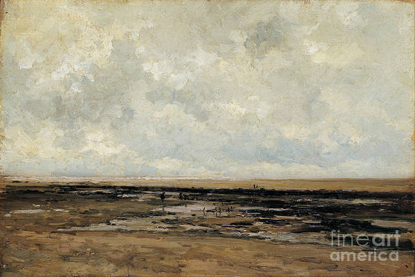 Wall Art - Painting - Villerville Beach In Normandy by Celestial Images