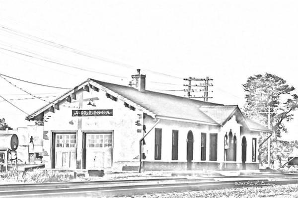 Photograph - Villisca Ia Train Station by Edward Peterson