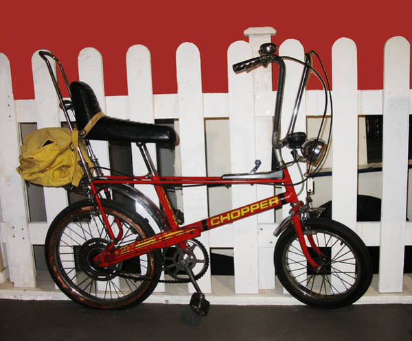 Vintage Conway Photograph - Vintage 1970s Bike With Rucksack  by Tom Conway