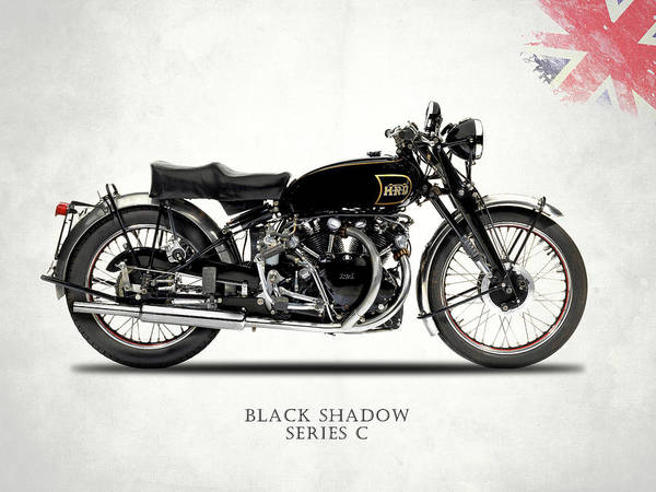 Motorcycle Photograph - Vincent Black Shadow by Mark Rogan