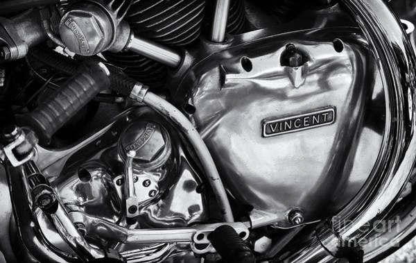Photograph - Vincent Engine Detail by Tim Gainey