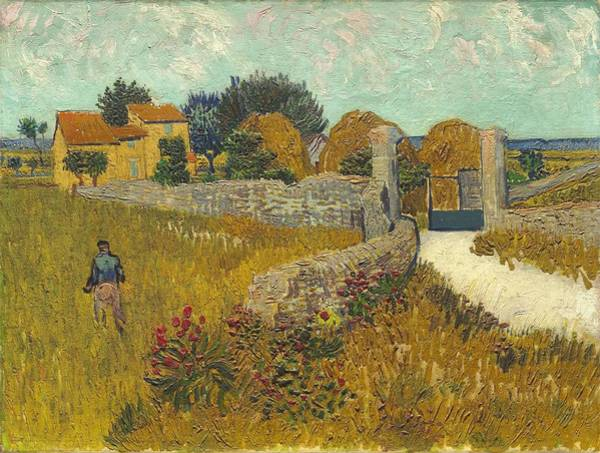 Painting - Vincent Van Gogh, Farmhouse In Provence by Artistic Panda