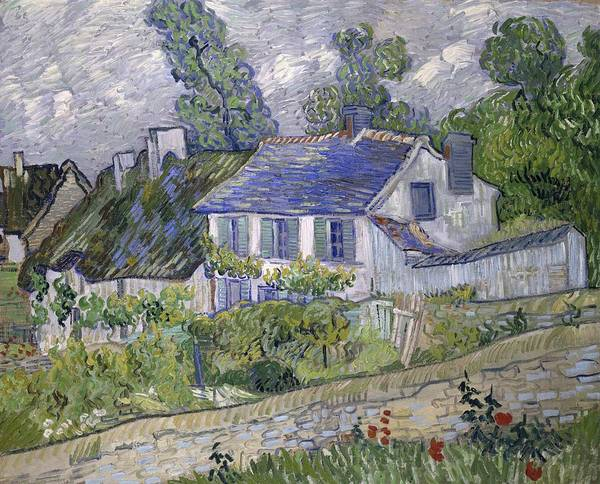 Painting - Vincent Van Gogh, Houses At Auvers by Artistic Panda