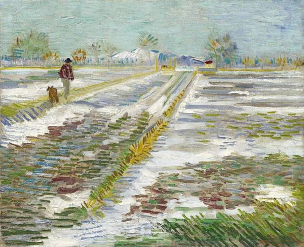 Painting - Vincent Van Gogh, Landscape With Snow by Artistic Panda