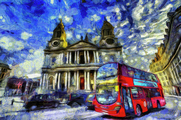 Wall Art - Mixed Media - Vincent Van Gogh London by David Pyatt