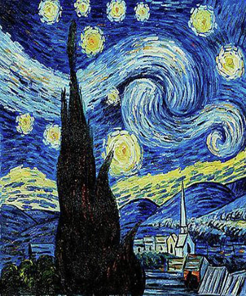 Painting - Vincent Van Gogh Starry Night Painting by Tony Rubino