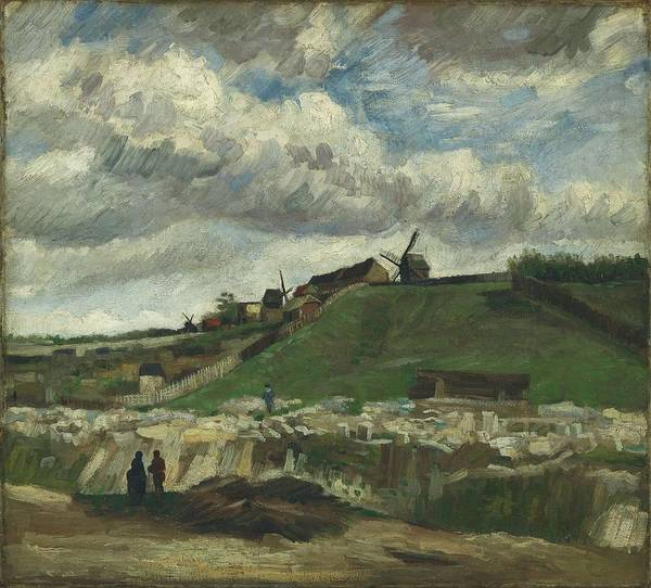 Painting - Vincent Van Gogh, The Hill Of Montmartre With Stone Quarry, Paris by Artistic Panda