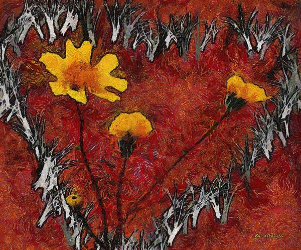 Painting - Vincent's Valentine by RC DeWinter