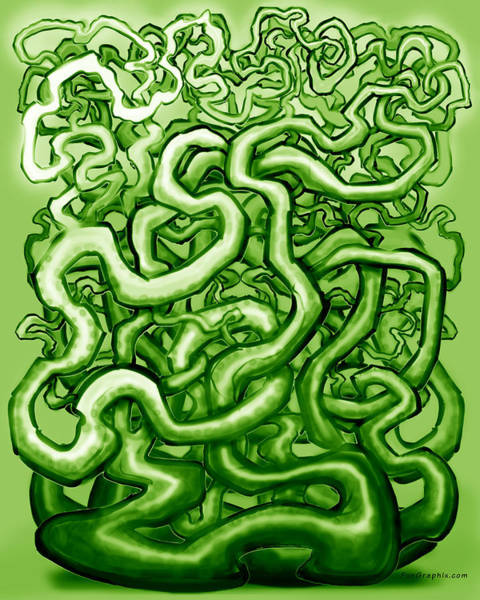 Digital Art - Vines Of Green by Kevin Middleton