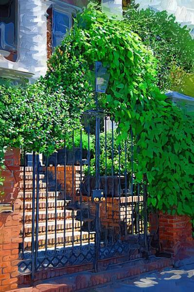 Photograph - Vines Over Gate by Donna Bentley