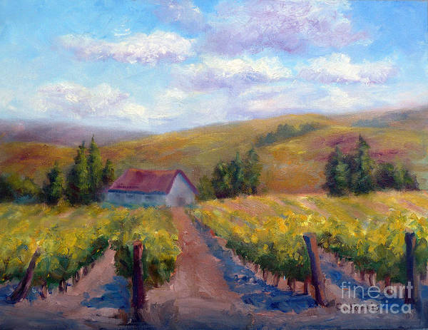 Painting - Vineyard Country by Carolyn Jarvis
