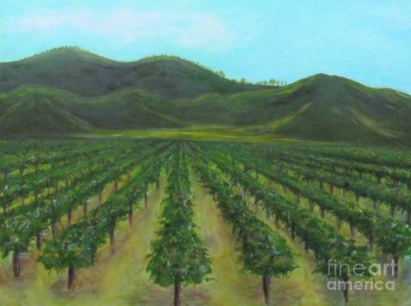 Painting - Vineyard Drive By by Jeanie Watson