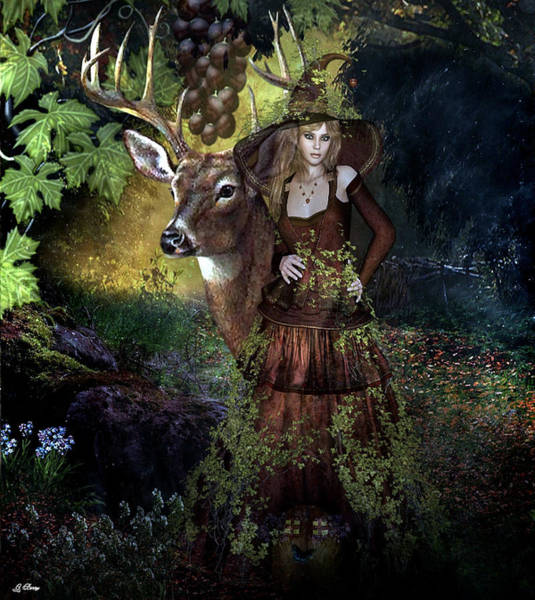 Deer Mixed Media - Witches  Vineyard by G Berry