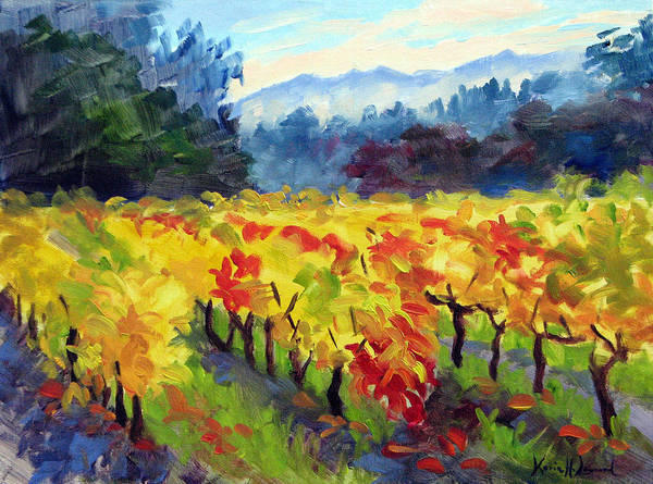 Vida Wall Art - Painting - Vineyard Glow by Karin Leonard