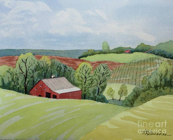 Wall Art - Painting - Vineyard Valley by Annette McGarrahan