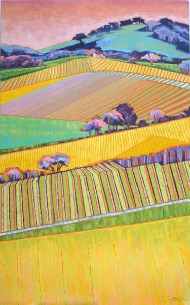 Wall Art - Painting - Vineyard Vertical by Sarah Gayle Carter