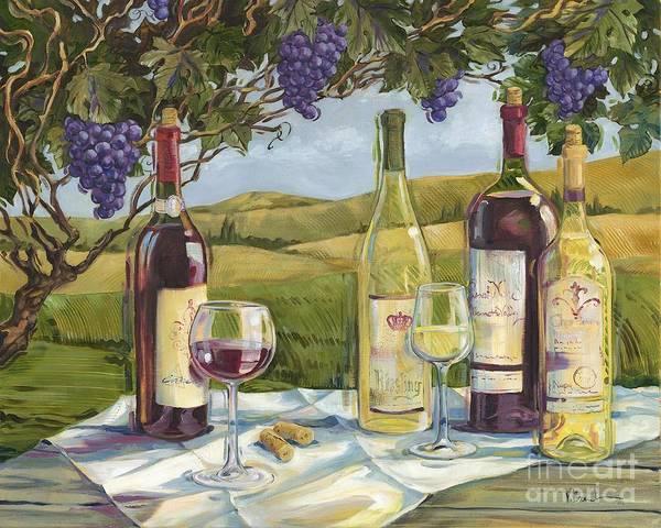 Wall Art - Painting - Vineyard Wine Tasting by Paul Brent