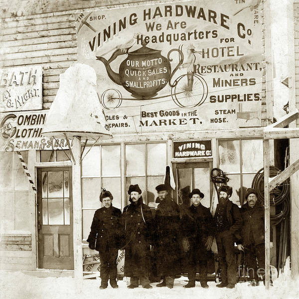 Photograph - Vining Hardware Co. Circa 1898 by California Views Archives Mr Pat Hathaway Archives