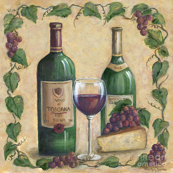 Wall Art - Painting - Vino Di Tuscana by Marilyn Dunlap