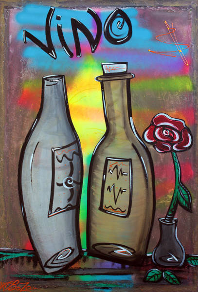 Wall Art - Painting - Vino by Laura Barbosa
