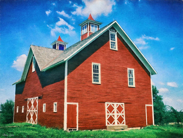 Photograph - Vintage 1898 Red Barn by Anna Louise