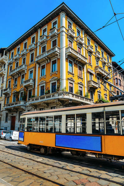 Photograph - Vintage 1930s Style Milanese Tram by Alexandre Rotenberg
