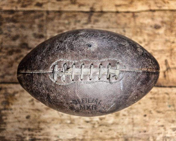 Game Room Photograph - Vintage 1940s Macgregor Mcg Intercollegiate Football  by Lisa Russo
