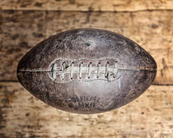 Football Photograph - Vintage 1940s Macgregor Mcg Intercollegiate Football  by Lisa Russo