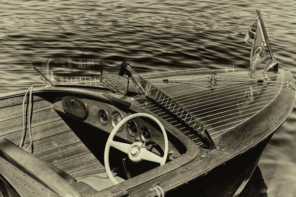 Photograph - Vintage 1958 Chris Craft Utility Boat by David Patterson